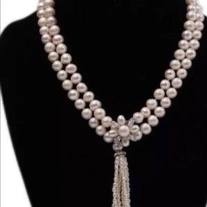 "Rare Natural  akoya culture pearl 60"" necklace"
